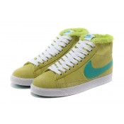 Nike Blazer Chaussures Nike Femme Vintage Suede Laine Vert (TODIB)