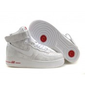 Acheter Nike Air Force 1 Mid '07 Blanc Argent Rouge Femme (tS10S)