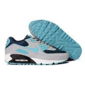 Promotions Nike Air Max 90 Homme Navy Gris-Bright Bleu (1xG3C)