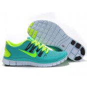 Homme Nike Free Run 5.0 + Chaussures authentiques soldes Vert Jaune Unisexe (IGx8m)