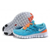 Unisexe Femme Vente Privée Nike Free Run 2 SkyBleu Orange (JTjxt)