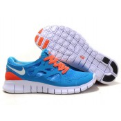 Unisexe Femme Vente Privée Nike Free Run 2 Bleu Orange (ttuKs)
