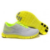 Nike Free Run 4.0 V2 Chaussures mode pour Femme Grise Jaune Vert (02ccE)
