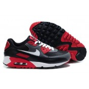 Homme Chaussures Nike Air Max 90 Noir Cool Gris-Blanc-University Rouge (cNhWZ)