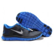 Chaussures authentiques Homme Nike Free Run 4.0 V2 Noir Bleu Unisexe (Fk0nW)