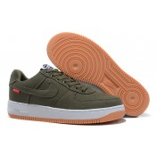 Promotions Nike Air Force 1 Basse Toile Army Vert Homme (oC6wf)