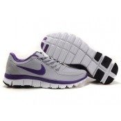 Acheter Nike Free 5.0 V4 Femme Chaussures soldes Wolf Gris Pure Pourpre (4oCRV)